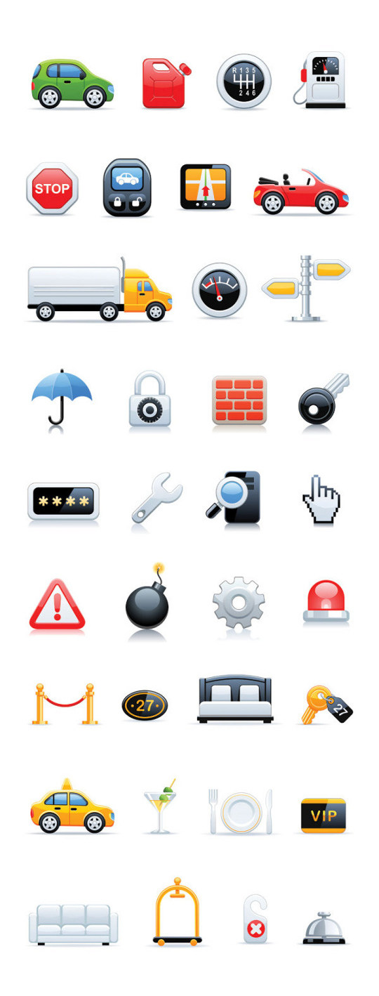 Various Elegant Vector Icons