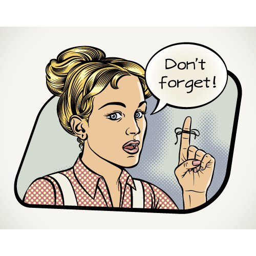 Woman says dont forget