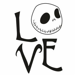 Download Jack Skellington Love SVG | Jack Skellington Character ...