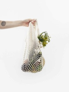 Vegetables in a reusable bag