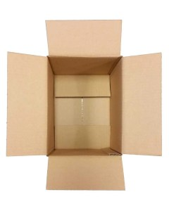 Empty cardboard box for packing items