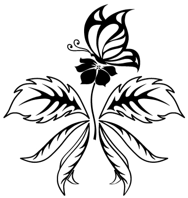 Butterfly Flower Tattoo Vector. Artist: flanker-d; File type: Vector EPS