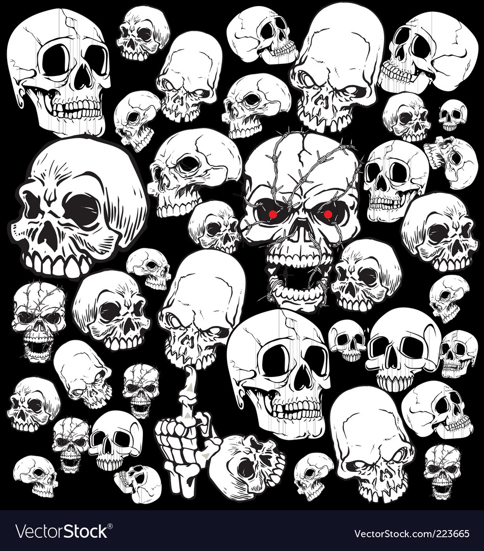 Skull Tattoo Wallpaper Vector. Artist: creative4m; File type: Vector EPS