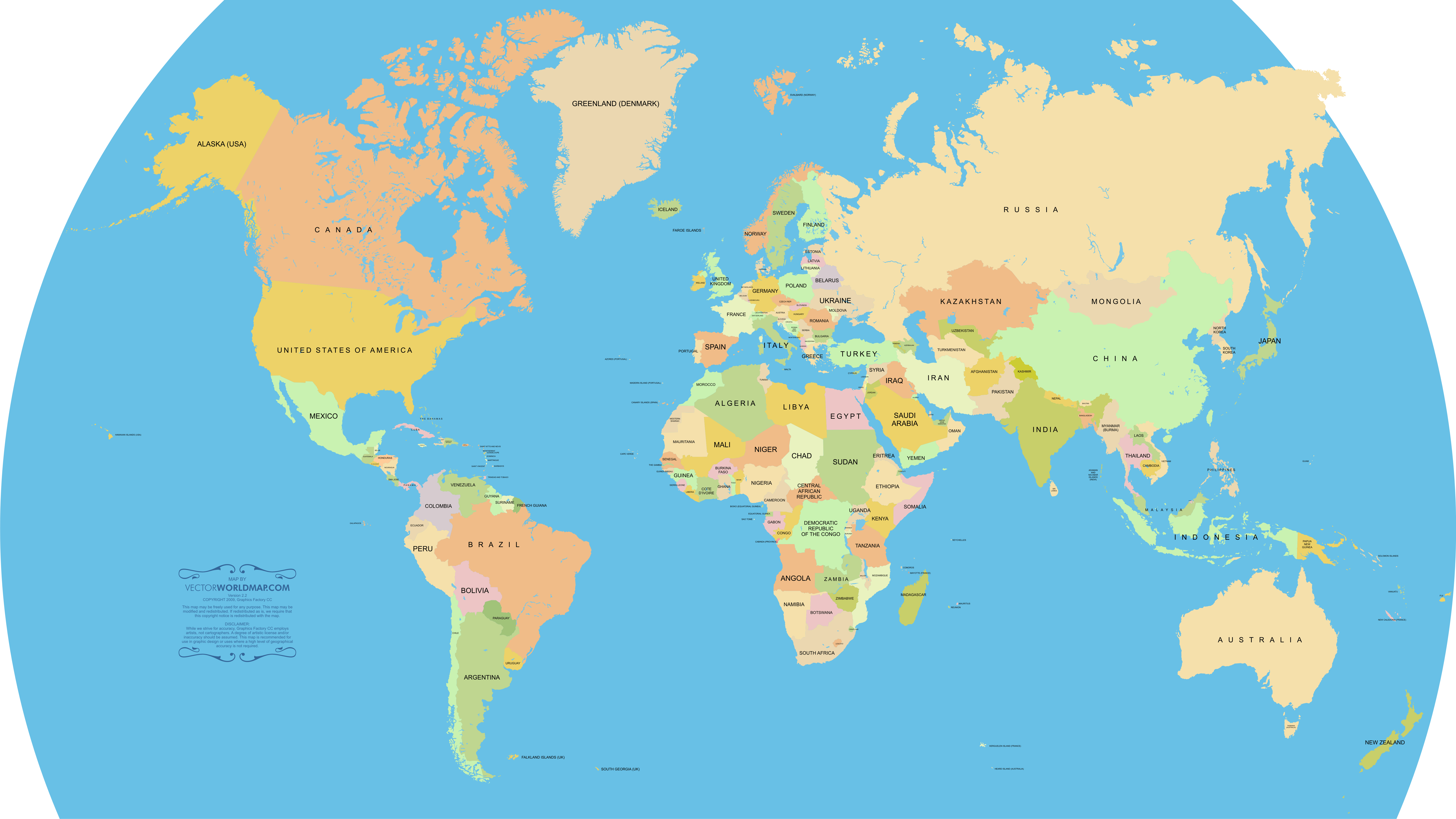 Vector World Map A Free Accurate World Map In Vector Format
