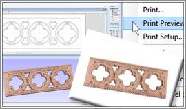 Vectric VCarve Desktop printing