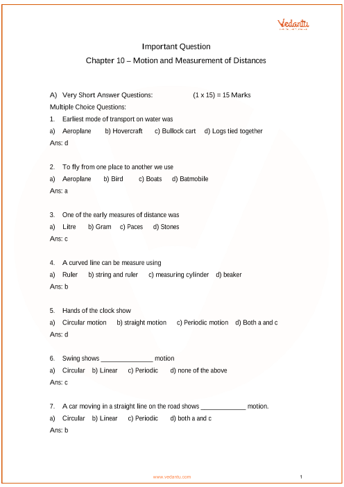 Important Questions For Cbse Class 6 Science Chapter 10