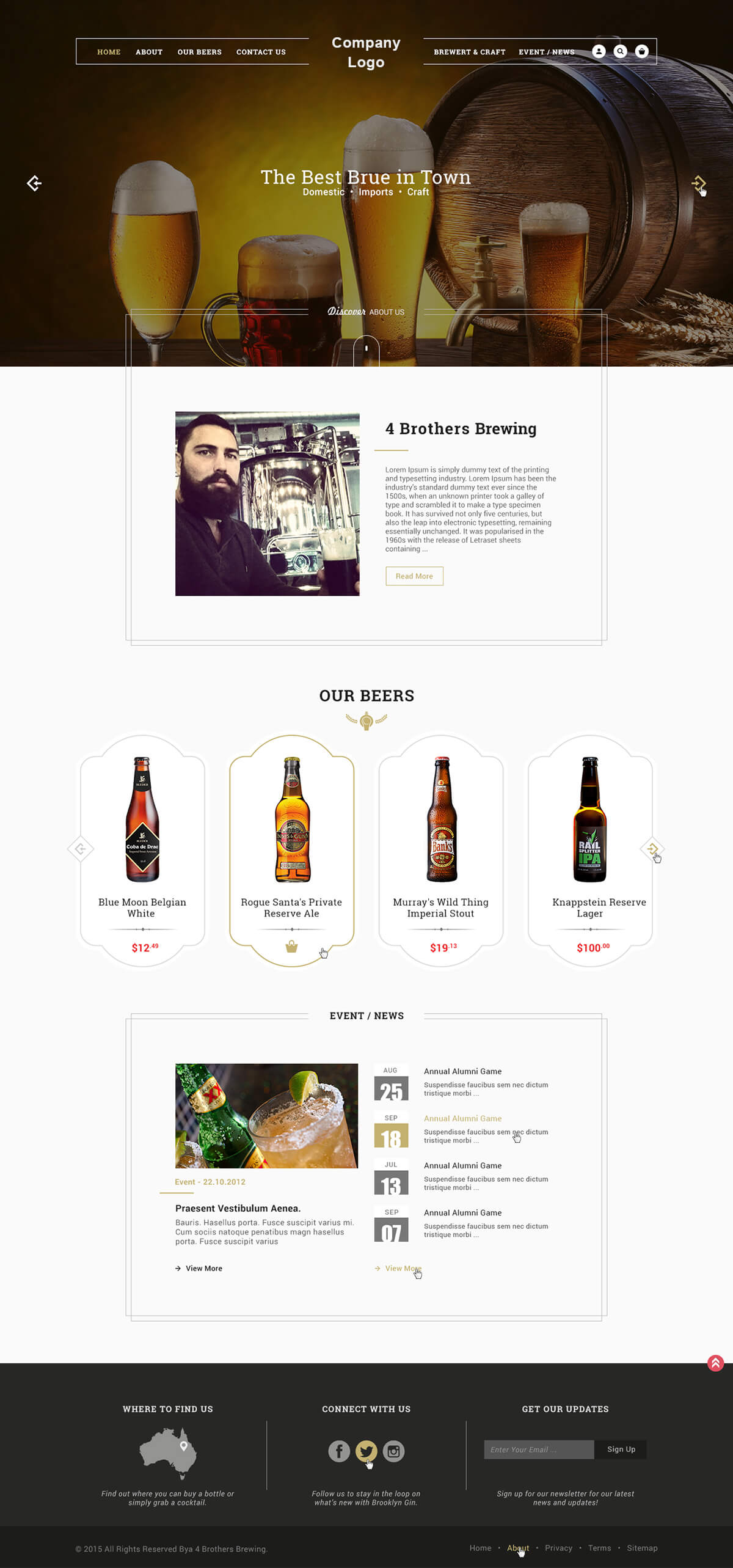 Brewery Beer Website Template