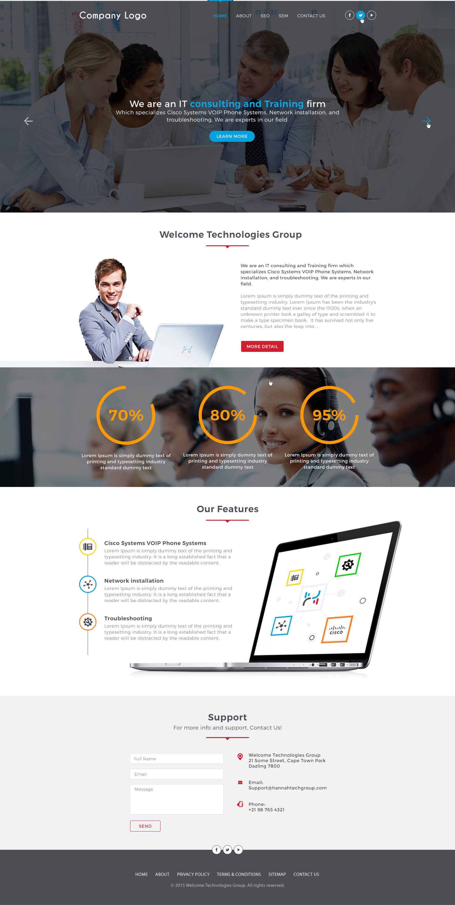 IT Consultant Website Template