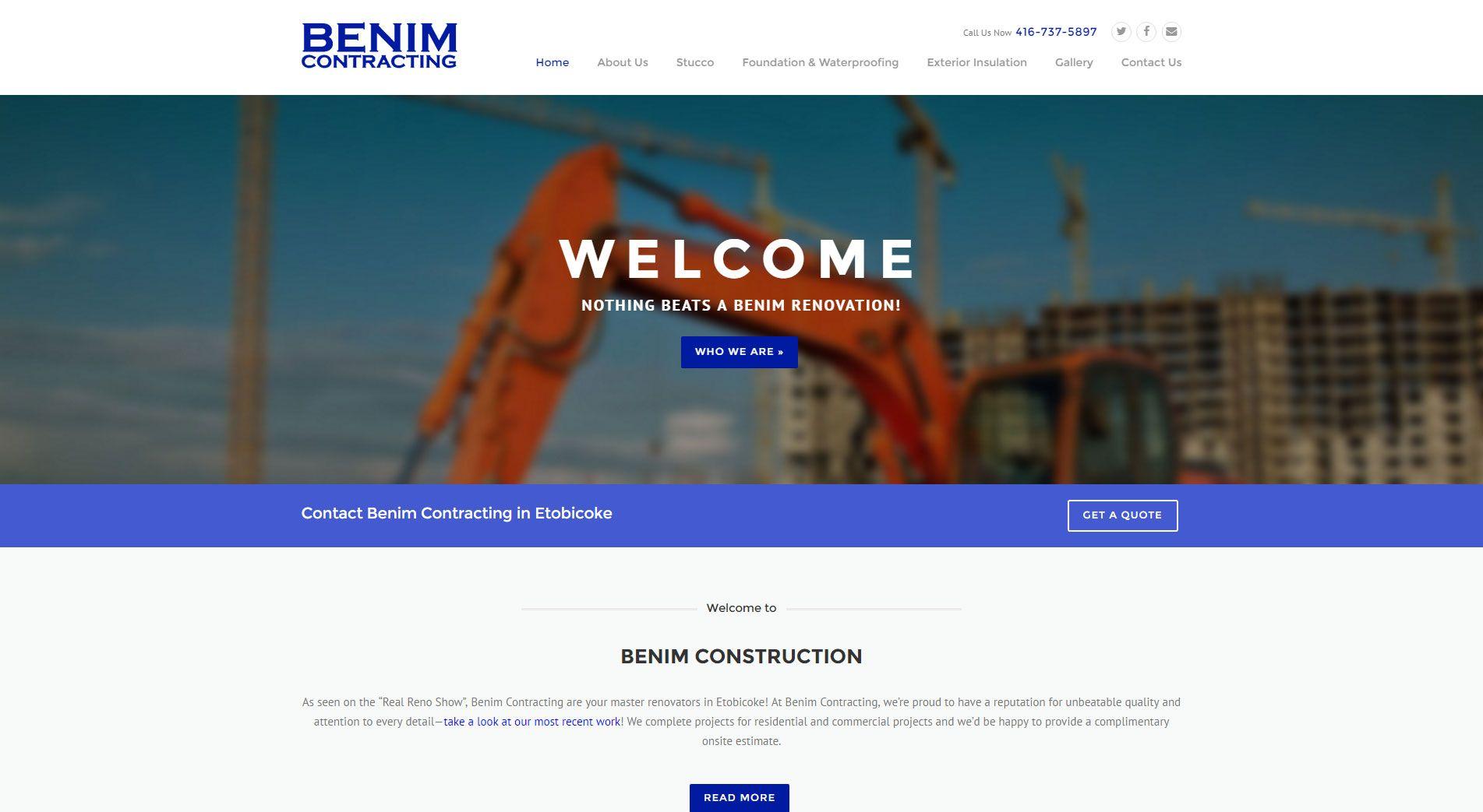 Benim Contracting Website