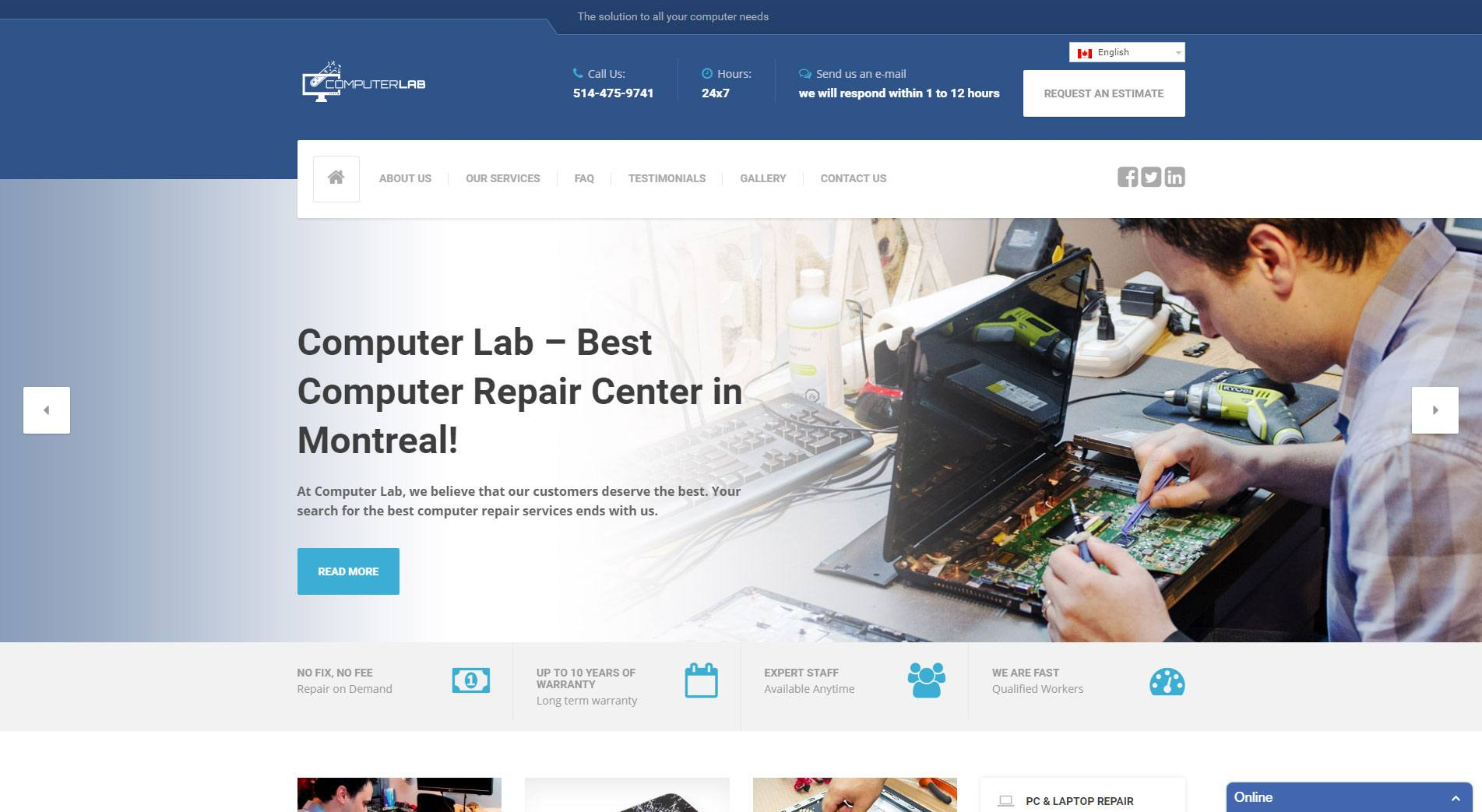 Labo Informatique Website