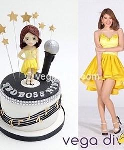 เค้กวันเกิด เค้ก3มิติ dress yellow