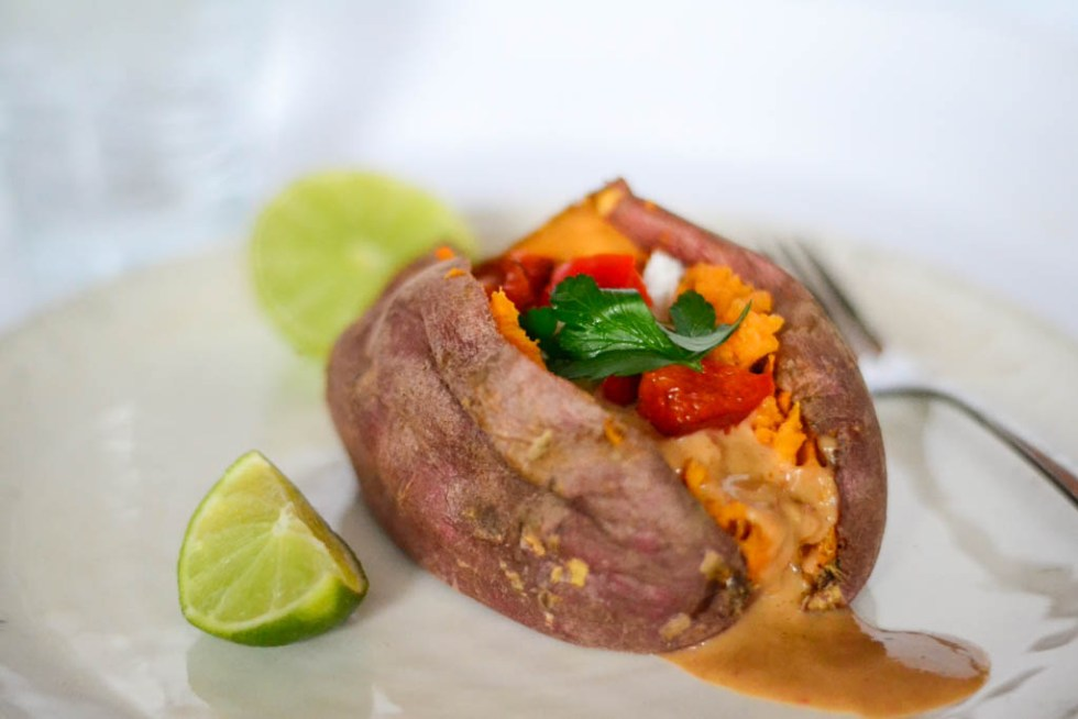 Vegan Thai Sweet Potatoes are a perfect vegan dinner recipe to try tonight. They are so filing and delicious!