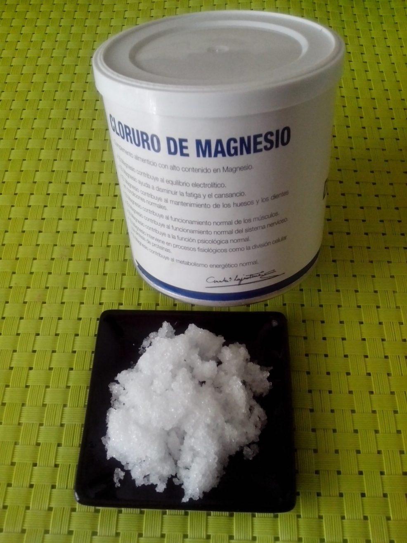 Ingredientes para hacer Aceite de magnesio