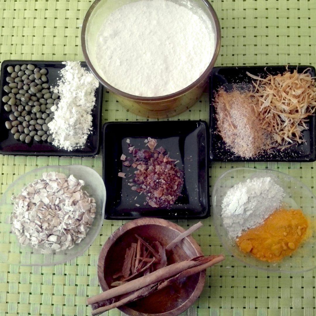 Ingredientes para hacer Polvos Corporales caseros