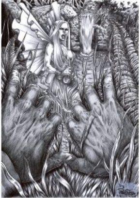 La Xana (Dibujo de Roberto Suárez)