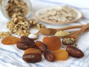 Ingredientes para hacer Galletas Crudiveganas