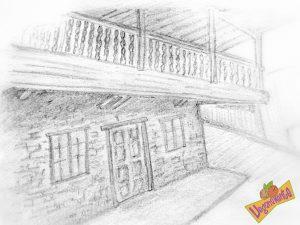 Casona Típica Asturiana (Dibujo de Raquel)