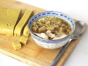 Tofu Birmano o Tofu de Garbanzos