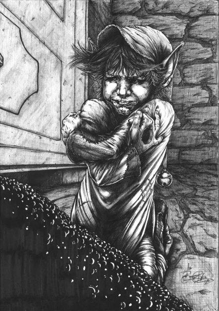 El Trasgu Enrabietau (Dibujo de Roberto Suárez)
