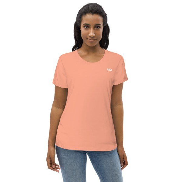 Rose Clay Front - Pow – Women's Fitted Organic Tee