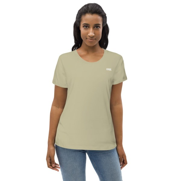 Sage Front - Pow – Women's Fitted Organic Tee