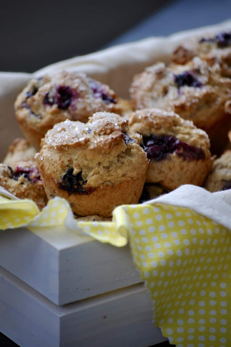Quickie Vegan Blueberry Almond Muffin