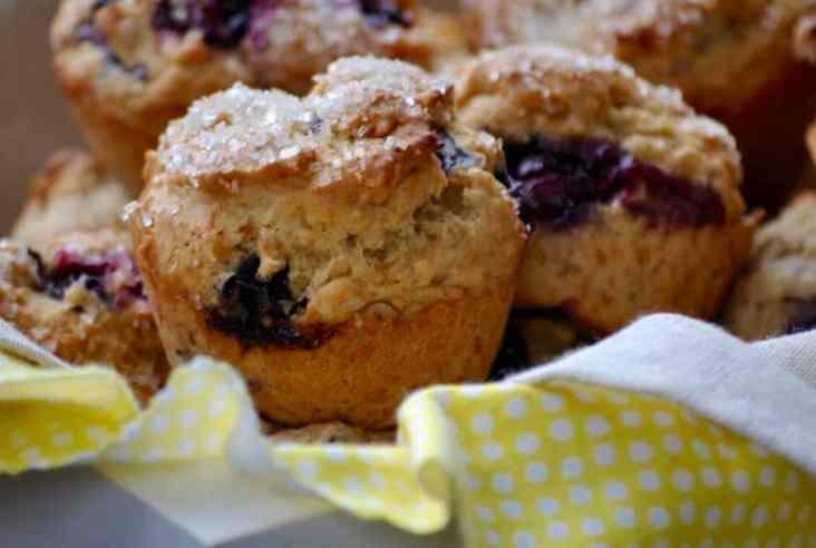 Quickie Vegan Blueberry Almond Muffin