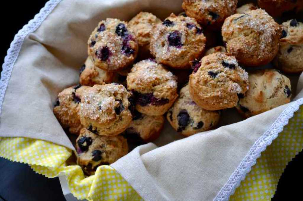 Quickie Vegan Blueberry and Almond Muffins