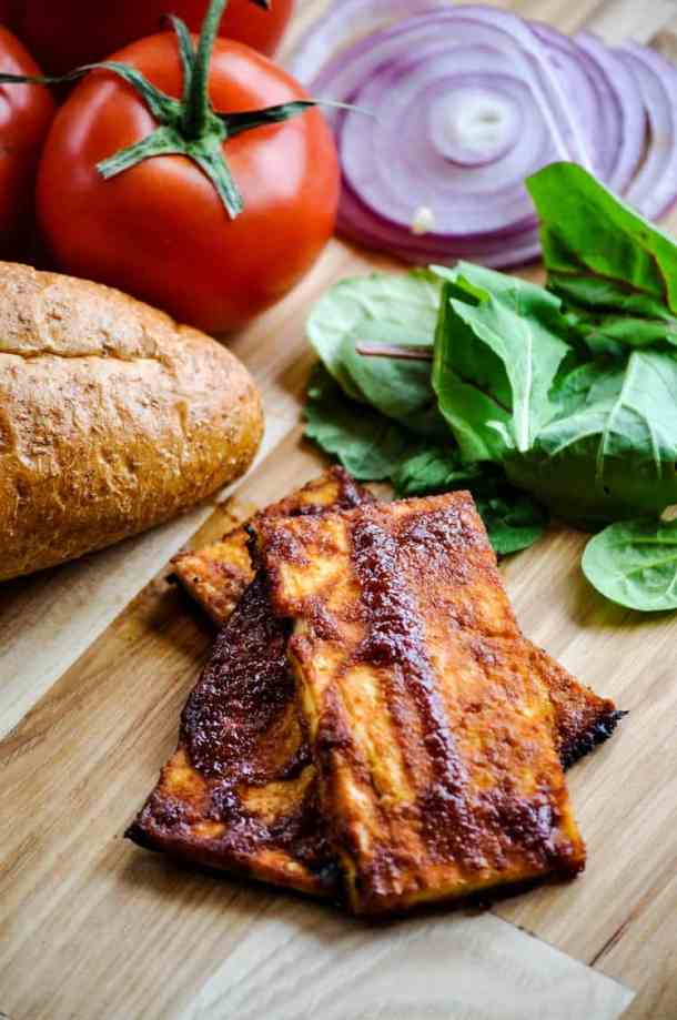 Barbecue tofu for 'meaty' sandwich cravings! https://www.veganblueberry.com