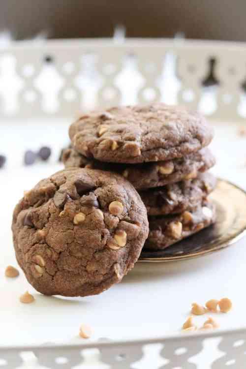 Double Chocolate Chip Vegan Cookie http://www.veganblueberry.com