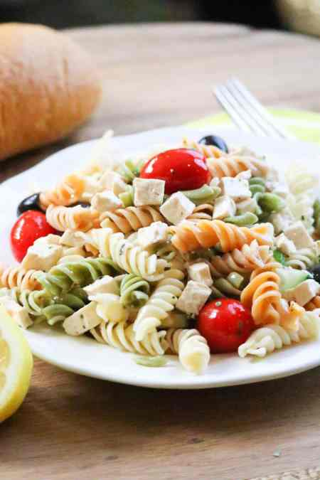 Wedding Pasta Salad with Tofu https://www.veganblueberry.com