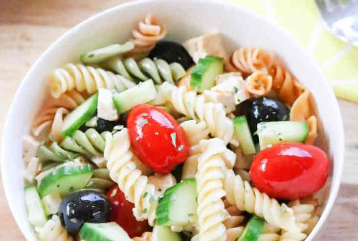 Pasta Salad with Tofu https://www.veganblueberry.com