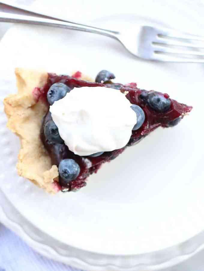 Easy Blueberry Pie – Fresh – No-Bake