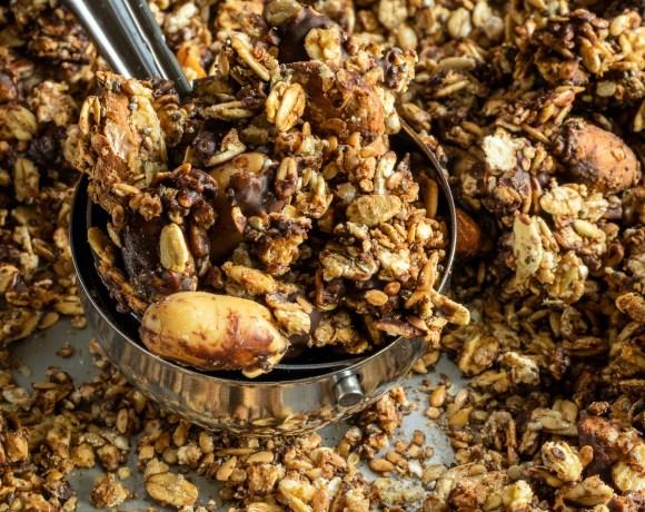 DIY: Granola au chocolat sans gluten, sans sucre ajouté et sans huile.