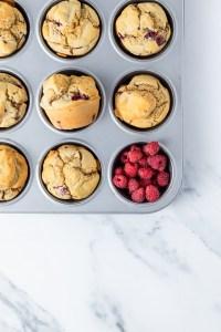 Muffins sans gluten à la framboise - recette facile