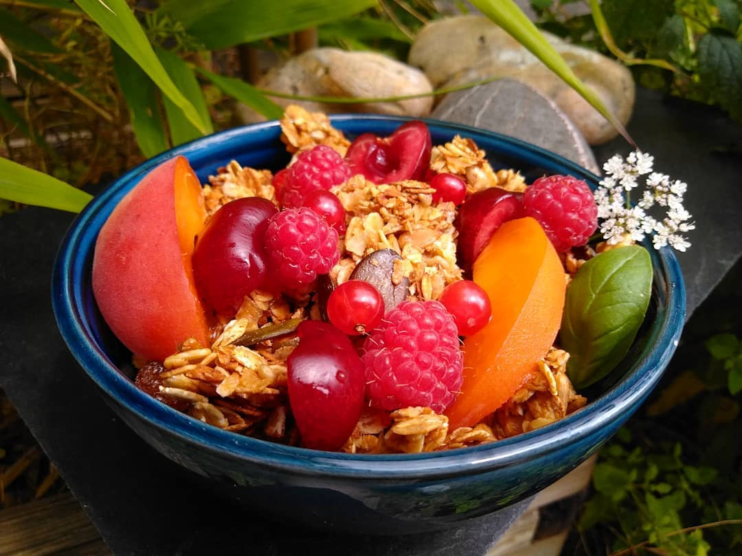 my homemade granola with fresh fruits display image  3d2ef0be