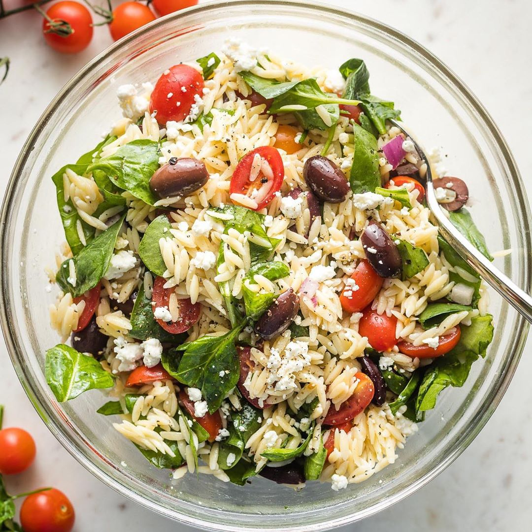 a mediterranean orzo salad is fresh and flavorful for any su display image  7d3f1420