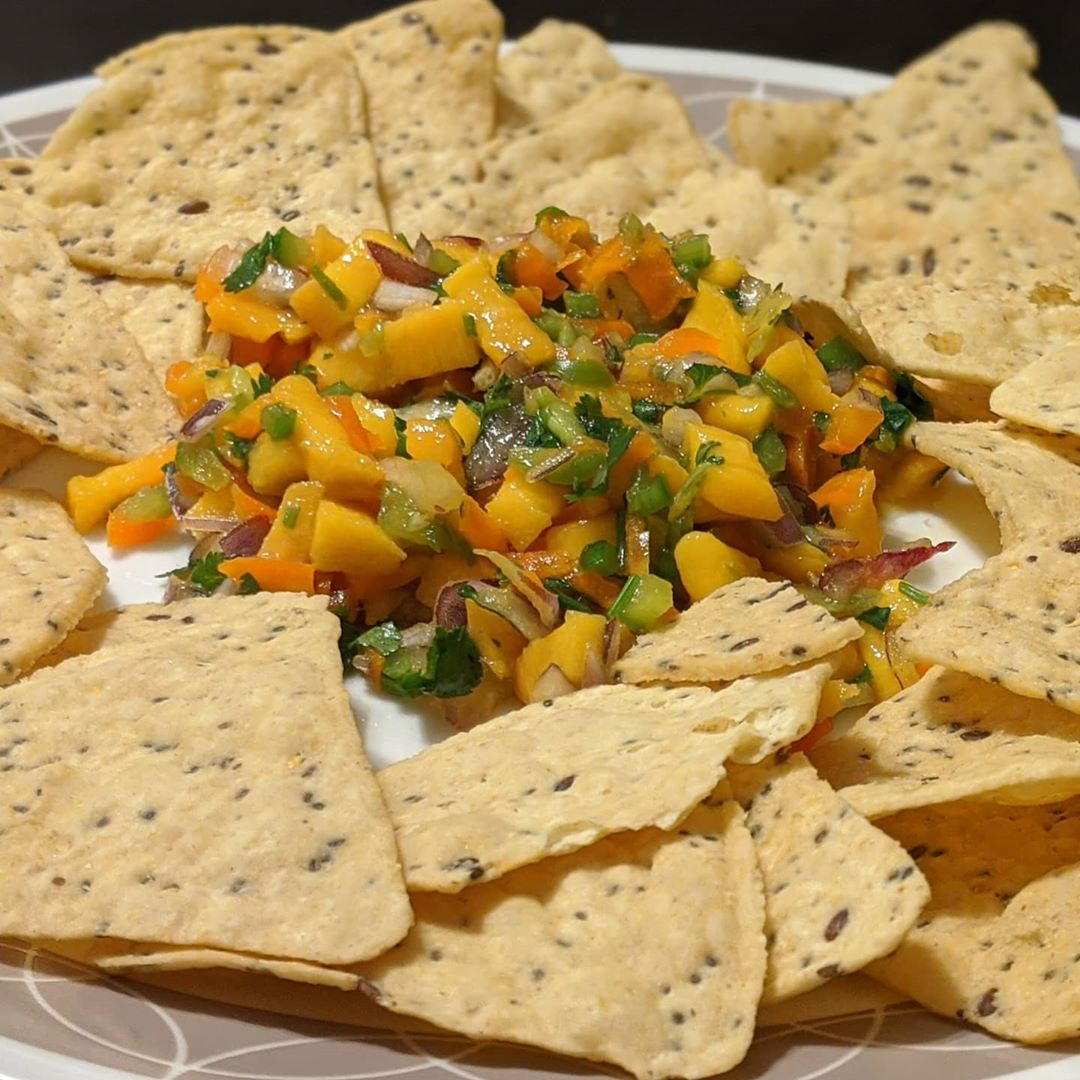 mango salsa with chips display image  b53a0335