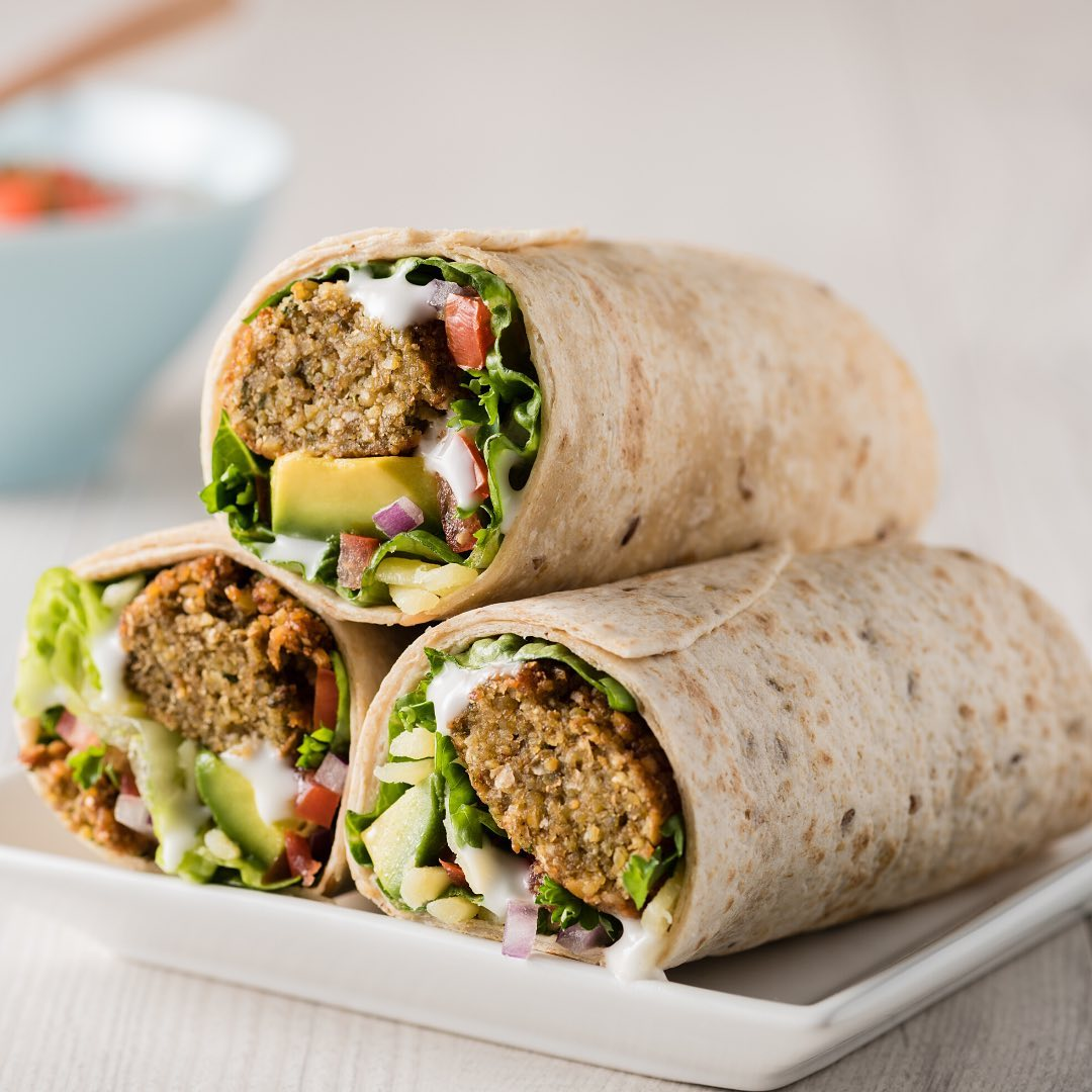 quick and easy falafel wraps with vegan mayo is a lunch fave display image  43908cda