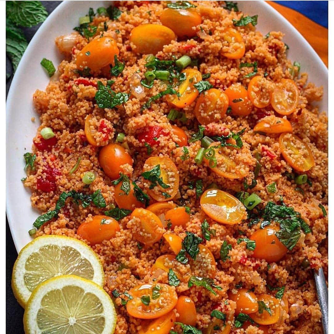 couscous with tomatoes and pomegranate molasses display image  3f3a2174