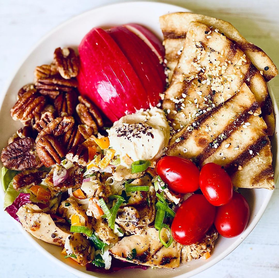 deconstructed chikn salad sandwich with pecans an display image  5c6c94cc