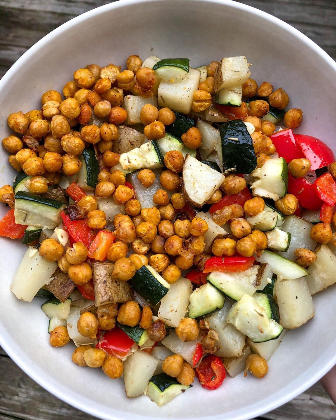 my dinner tonight was this fresh roasted veggie and chickpea multip img 0 b69aa548