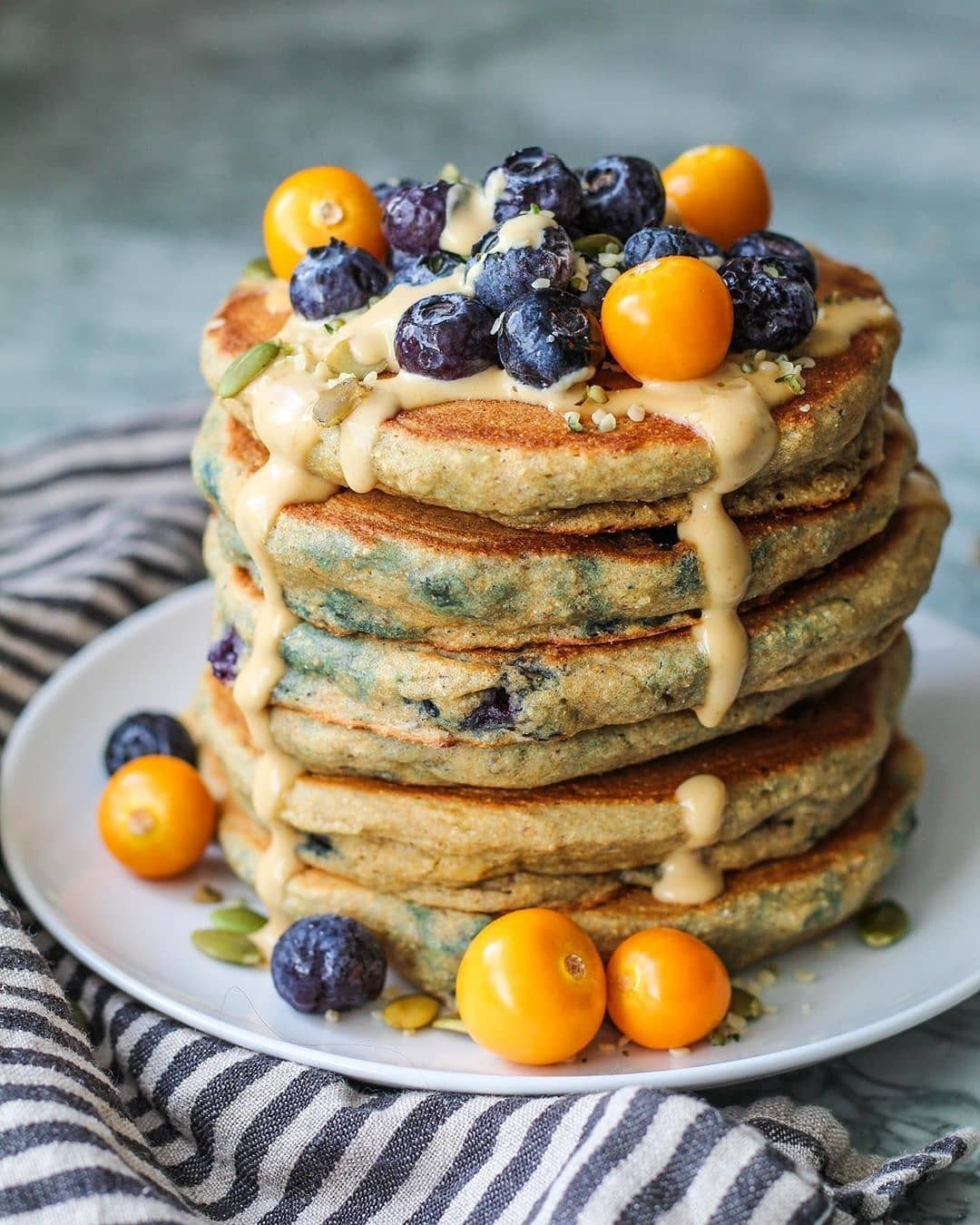 the fluffiest whole grain pancakes by plantbasedrd display image  6dce13ce