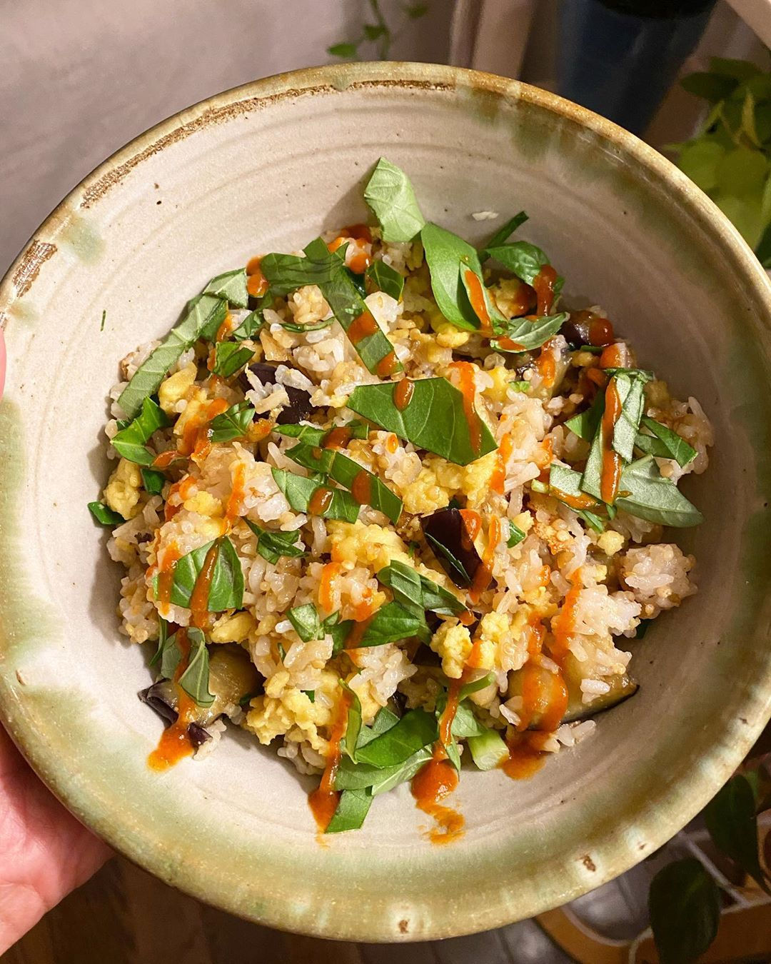 vegan eggplant and basil fried rice with eatjust justegg display image  9a47606f