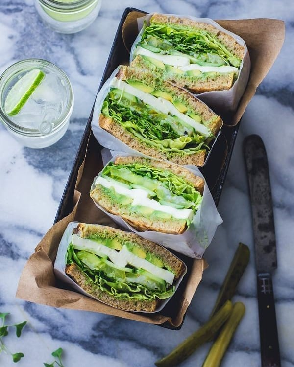 elevate your lunch with these vibrant green goddess sandwich display image  616eba39