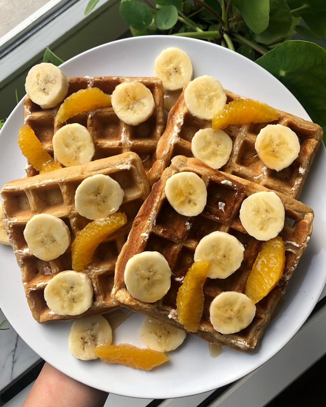 orange waffles  these waffles are super easy to make display image  19f692f7