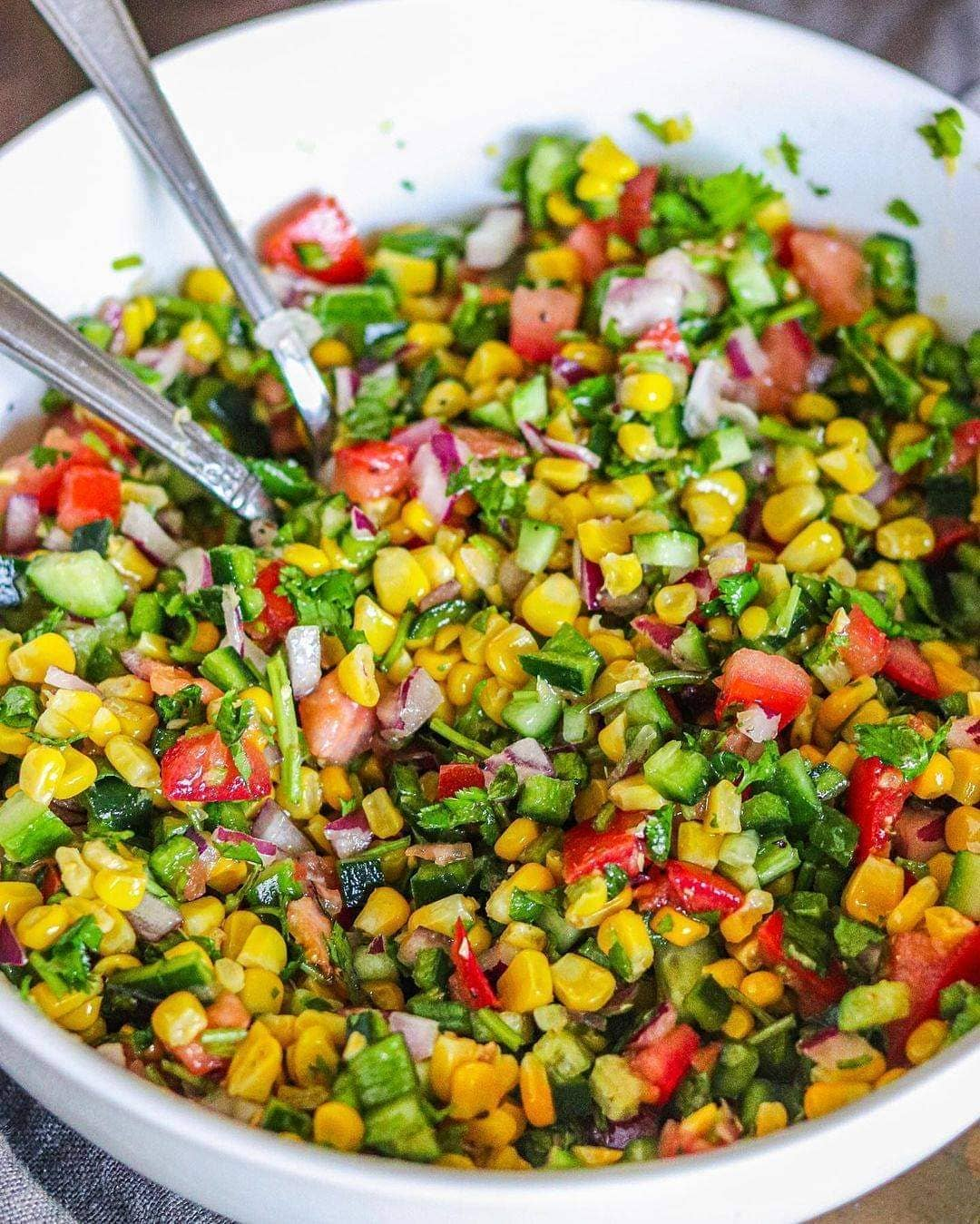 our poblano corn salad is packed with nutrients that display image  730ba80b