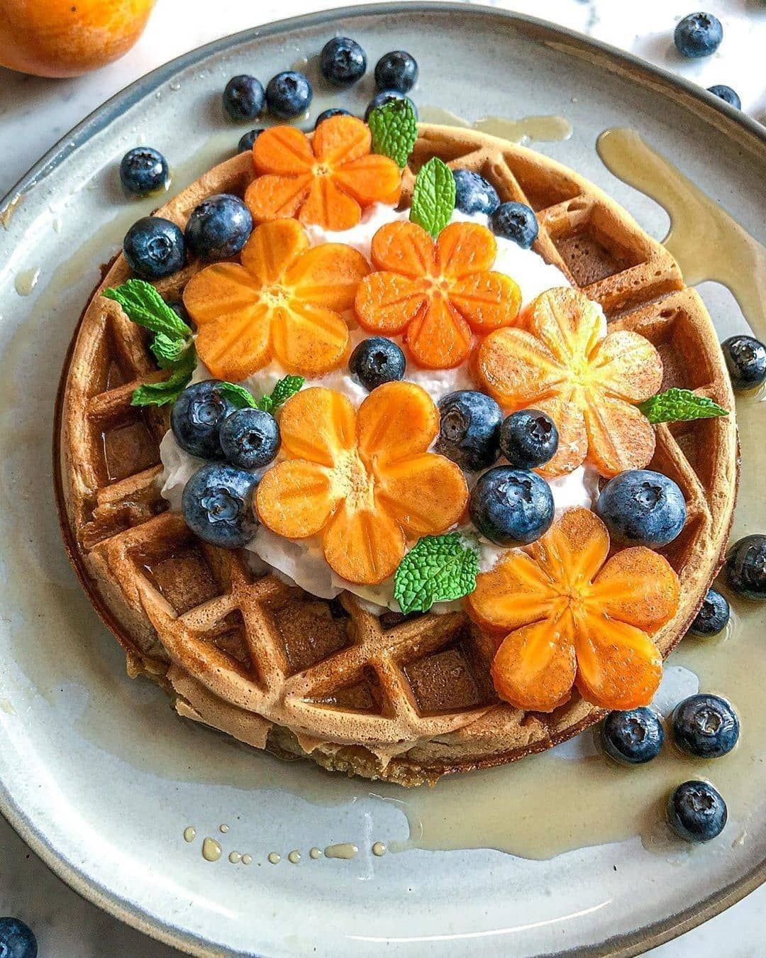 pumpkin spice waffles by naturallyzuzu  served with coc display image  729a75f5