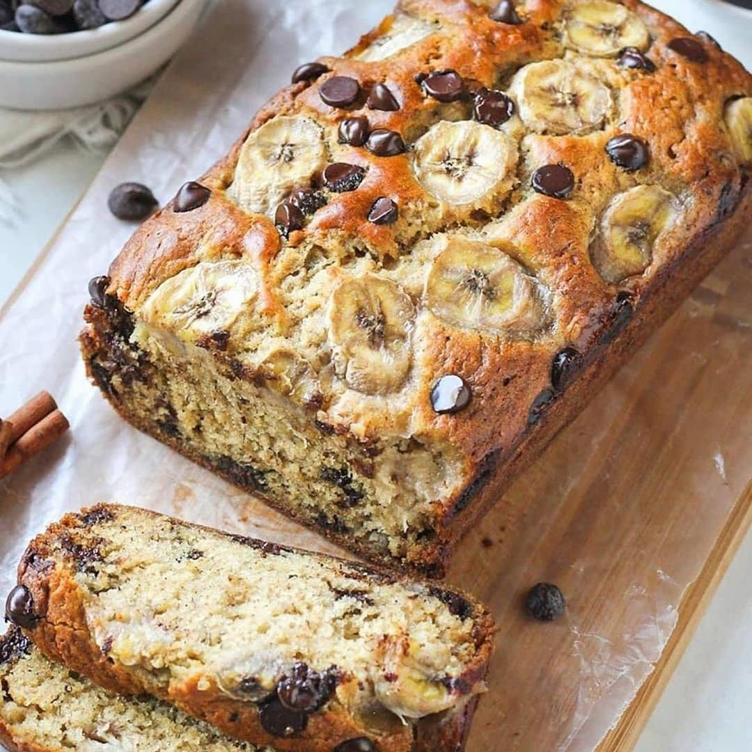 whos up for some morning banana chocolate chip bread display image  c72c9f2c