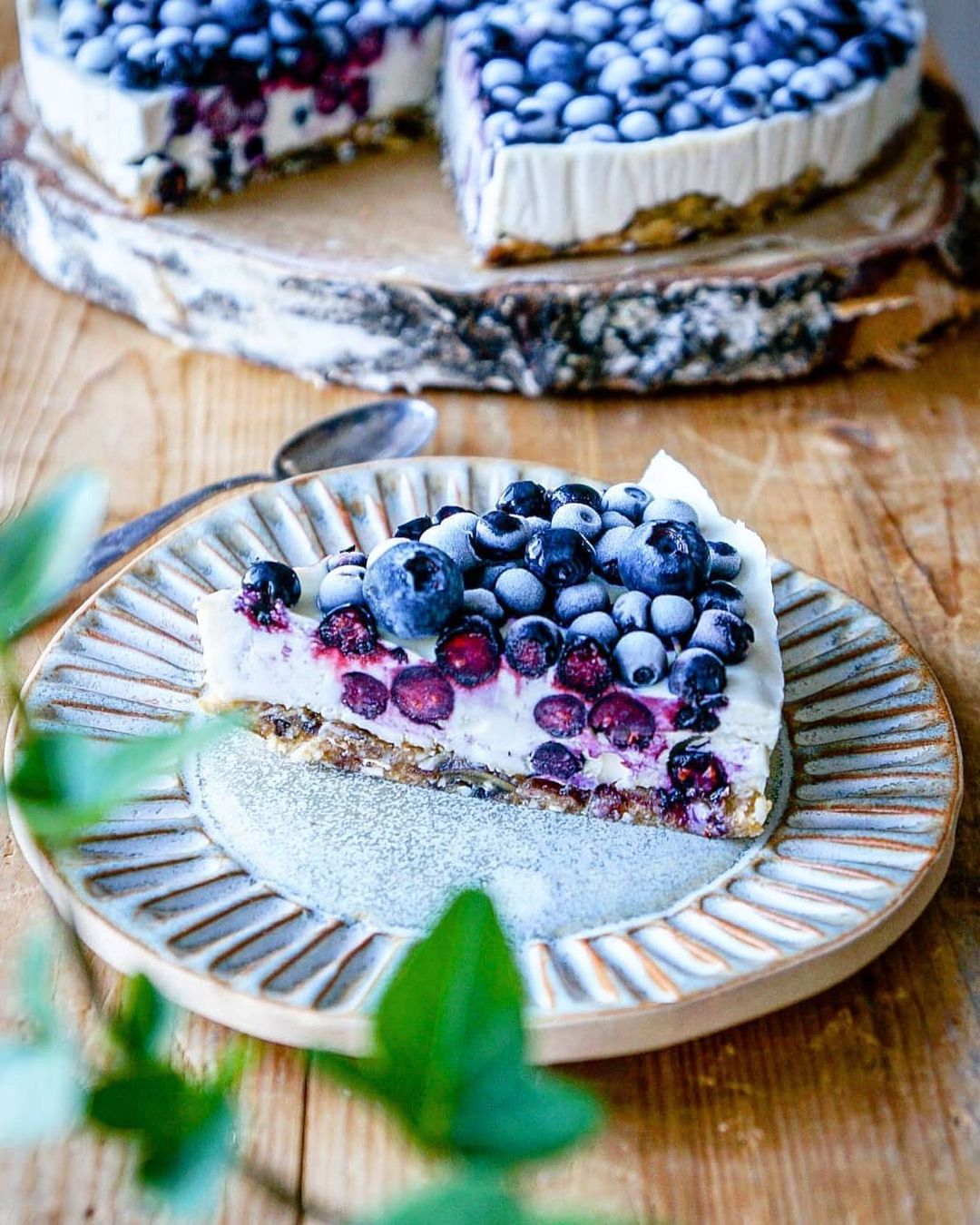 blueberry raw cheesecake  with forest picked blueberries display image  6ea24d95